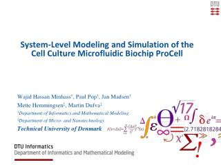 System-Level Modeling and Simulation of the Cell Culture Microfluidic Biochip ProCell