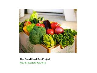 The Good Food Box Project