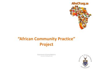 """""""African Community Practice"""" Project"""