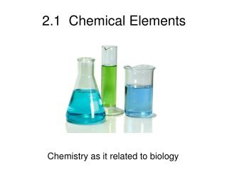 2.1  Chemical Elements