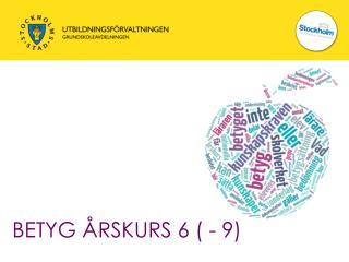 BETYG ÅRSKURS 6 ( - 9)
