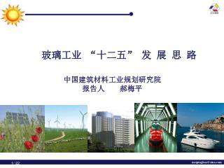 中国建筑材料工业规划研究院 报告人 郝梅平