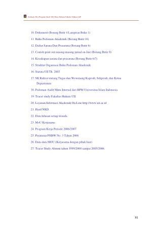 Evaluasi Diri Program Studi (S1) Ilmu Hukum Fakutas Hukum UII