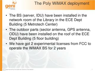 The Poly WiMAX deployment