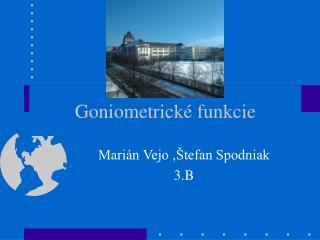 Goniometrické funkcie
