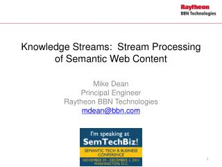 Knowledge Streams: Stream Processing of Semantic Web Content