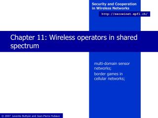 Chapter 11: Wireless operators in shared spectrum