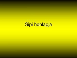 Sipi honlapja