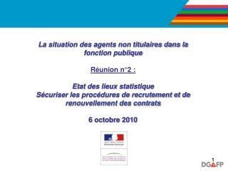 La situation des agents non titulaires dans la fonction publique Réunion n°2 :