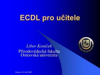 ECDL pro učitele