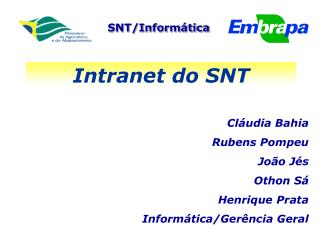 Intranet do SNT