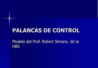 PALANCAS DE CONTROL