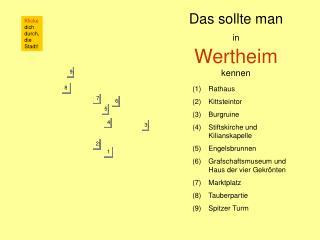 Das sollte man in Wertheim kennen