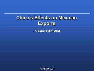 China's Effects on Mexican Exports