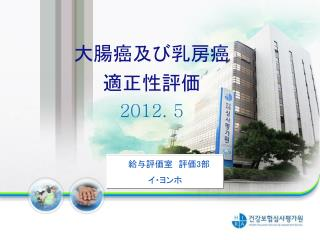 大腸癌及び乳房癌 適正性評価 2012. 5