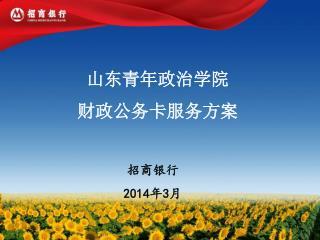 山东青年政治学院 财政公务卡服务方案 招商银行 201 4年3月