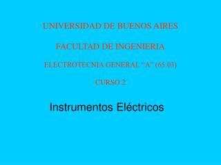 Instrumentos Eléctricos