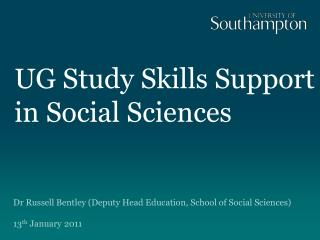 UG Study Skills Support in Social Sciences