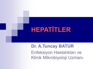 HEPATİTLER