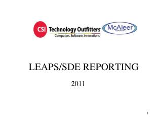 LEAPS/SDE REPORTING