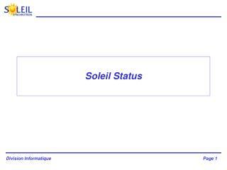 Soleil Status