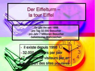 Der Eiffelturm –                   la tour Eiffel