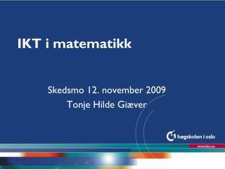 IKT i matematikk