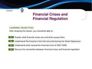 Financial Crises and Financial Regulation