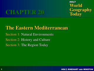 The Eastern Mediterranean