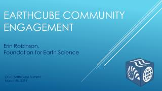 EarthCube community Engagement