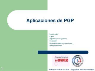 Aplicaciones de PGP