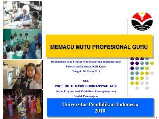MEMACU MUTU PROFESIONAL GURU