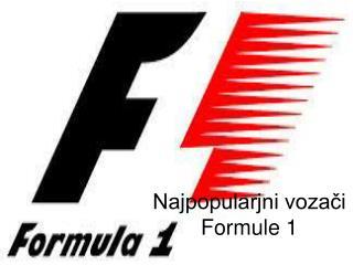 Najpopularjni vozači Formule 1
