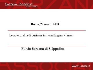 Roma, 28 marzo 2008