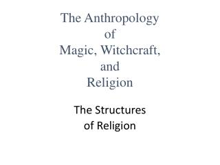 The Structures of Religion