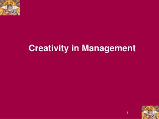 Creativity in Management