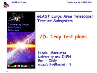 7D: Tray test plans