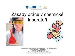 Zásady práce v chemické laboratoři
