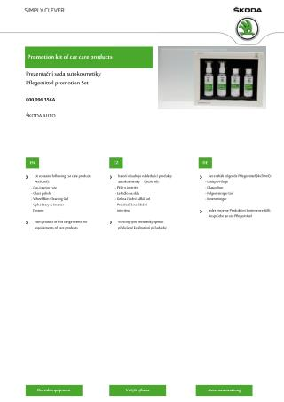 Promotion kit of car care products
