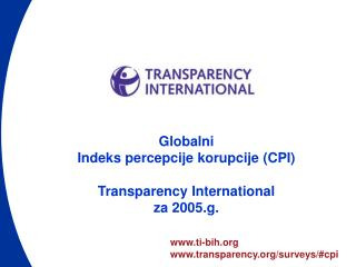 ti-bih transparency/surveys/#cpi