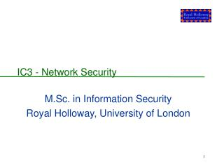 IC3 - Network Security