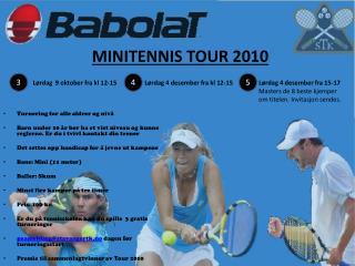 MINITENNIS TOUR 2010