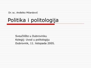 Politika i politologija
