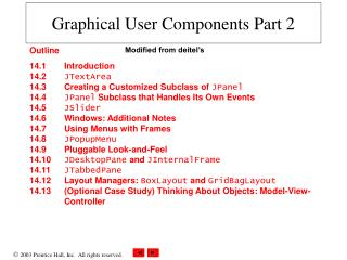Graphical User Components Part 2