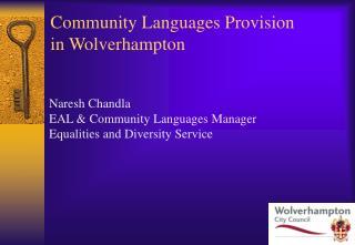Community Languages Provision in Wolverhampton