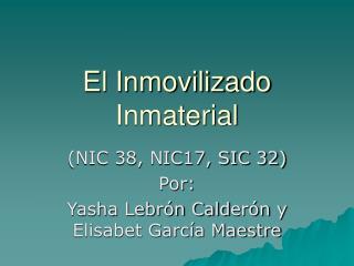 El Inmovilizado Inmaterial