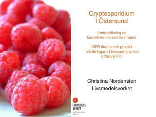 Christina Nordensten Livsmedelsverket