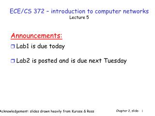 ECE/CS 372 – introduction to computer networks Lecture 5