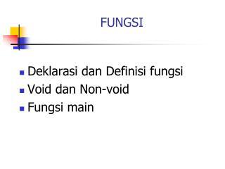 FUNGSI