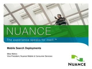 Mobile Search Deployments